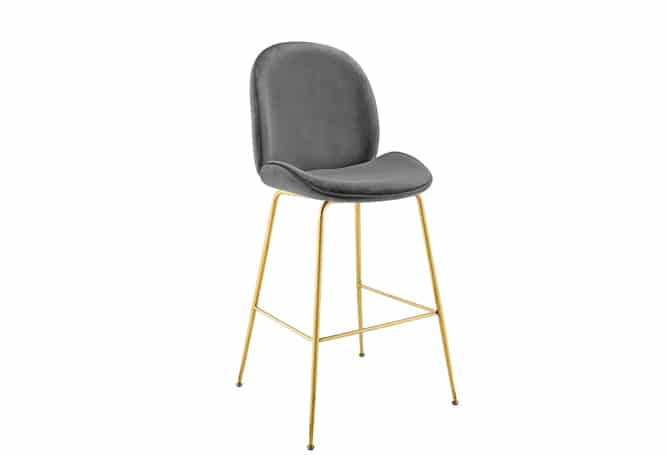 Scop Bar Stool - Gold/Grey