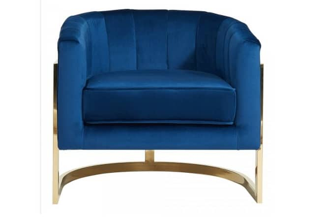 Tarr Occasional Chair Blue