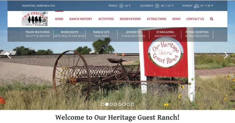 New website for Our Heritage Ranch
