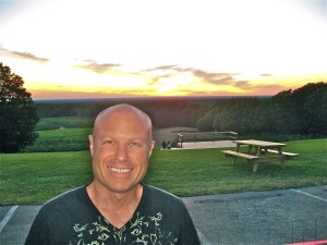 photo of Mike Borger at Mapleside for sunset