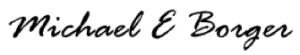 Michael Borger signature