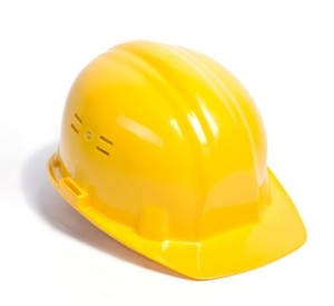 image of a yellow construction hard hat
