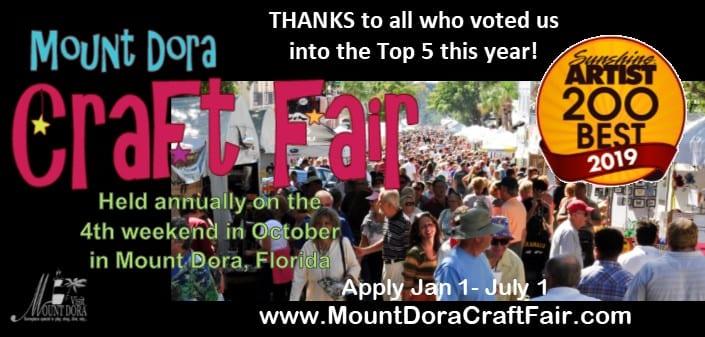 Mount Dora Craft Fair banner