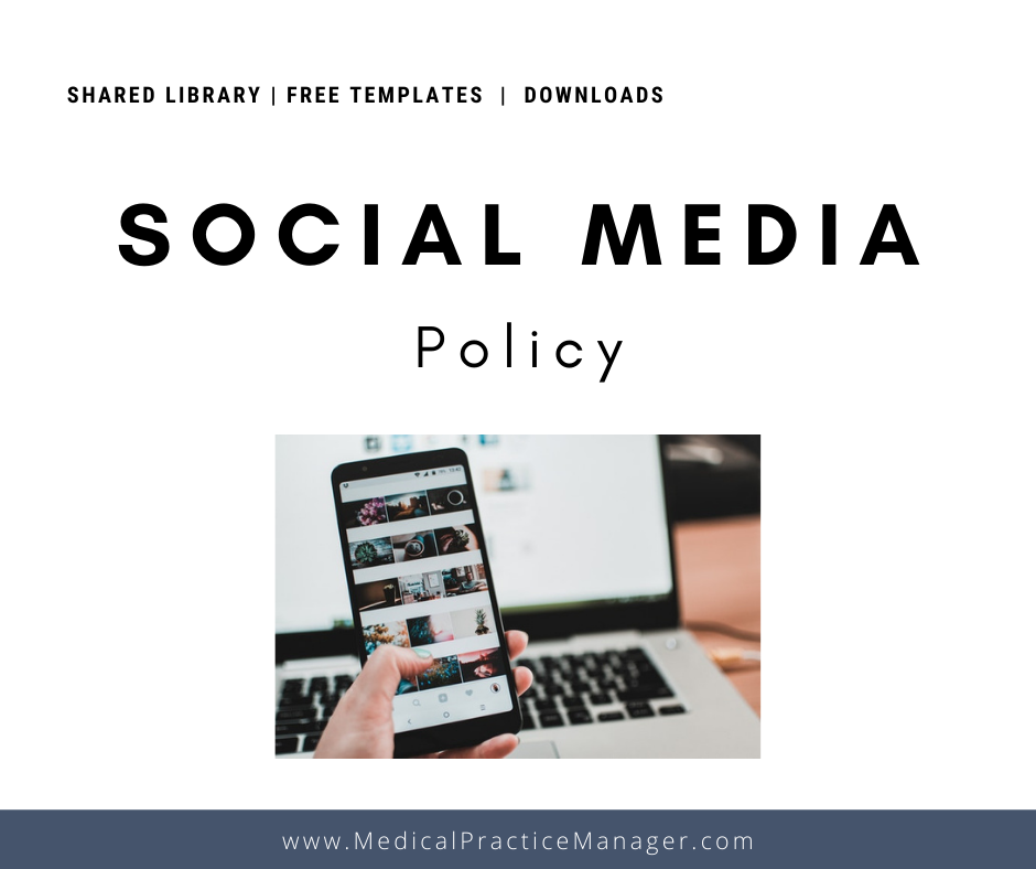 social media policy for employees of medical practices