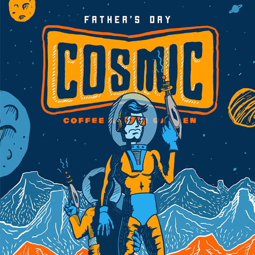 Cosmic Coffee Father's Day Poster
