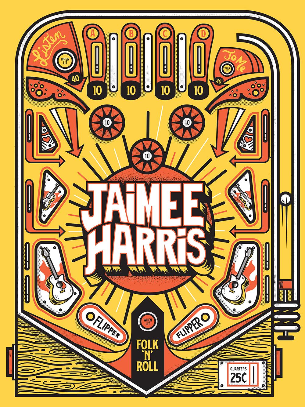 Jaimee Harris Pinball Poster
