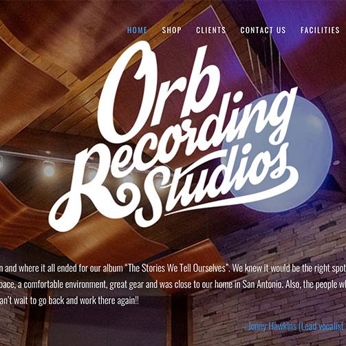Orb Recording Studios Website