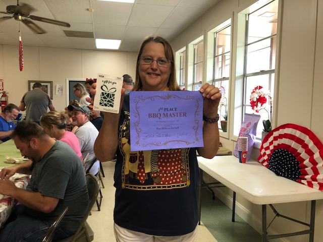 Winner of the Labor Day BBQ Contest!