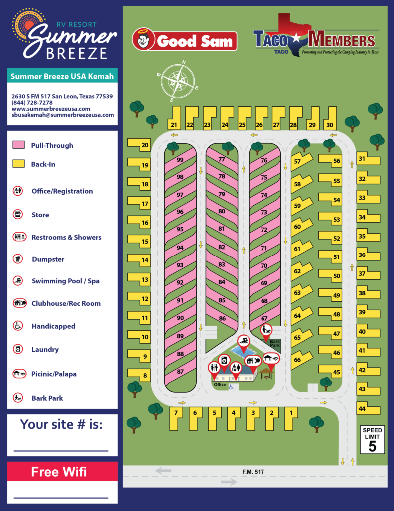 6.11.2019 Kemah Site Map-1 Sided 139162_SummerBreeze_Kemah_SiteMap_proof4 (Final)
