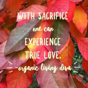 Sacrifice and true love