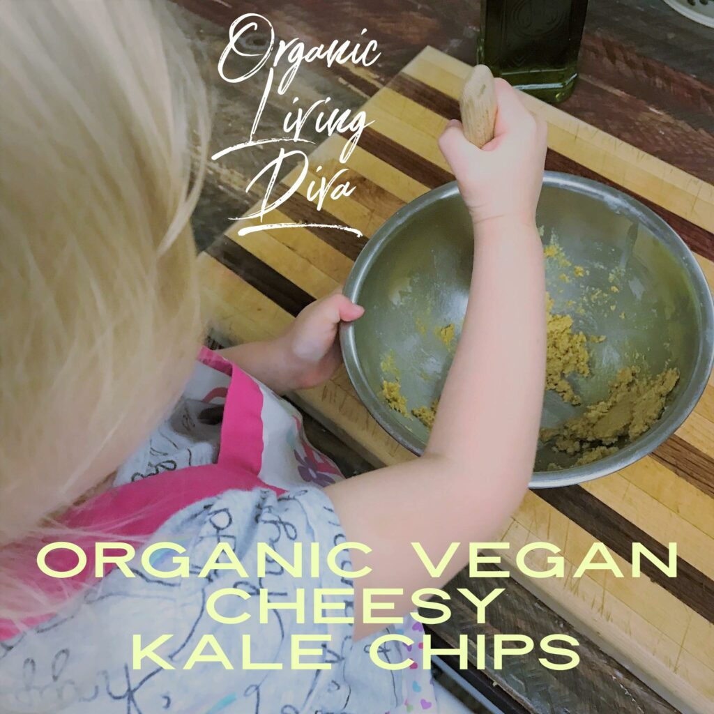 Making the Dressing for Organic Vegan Cheesy Kale Chips