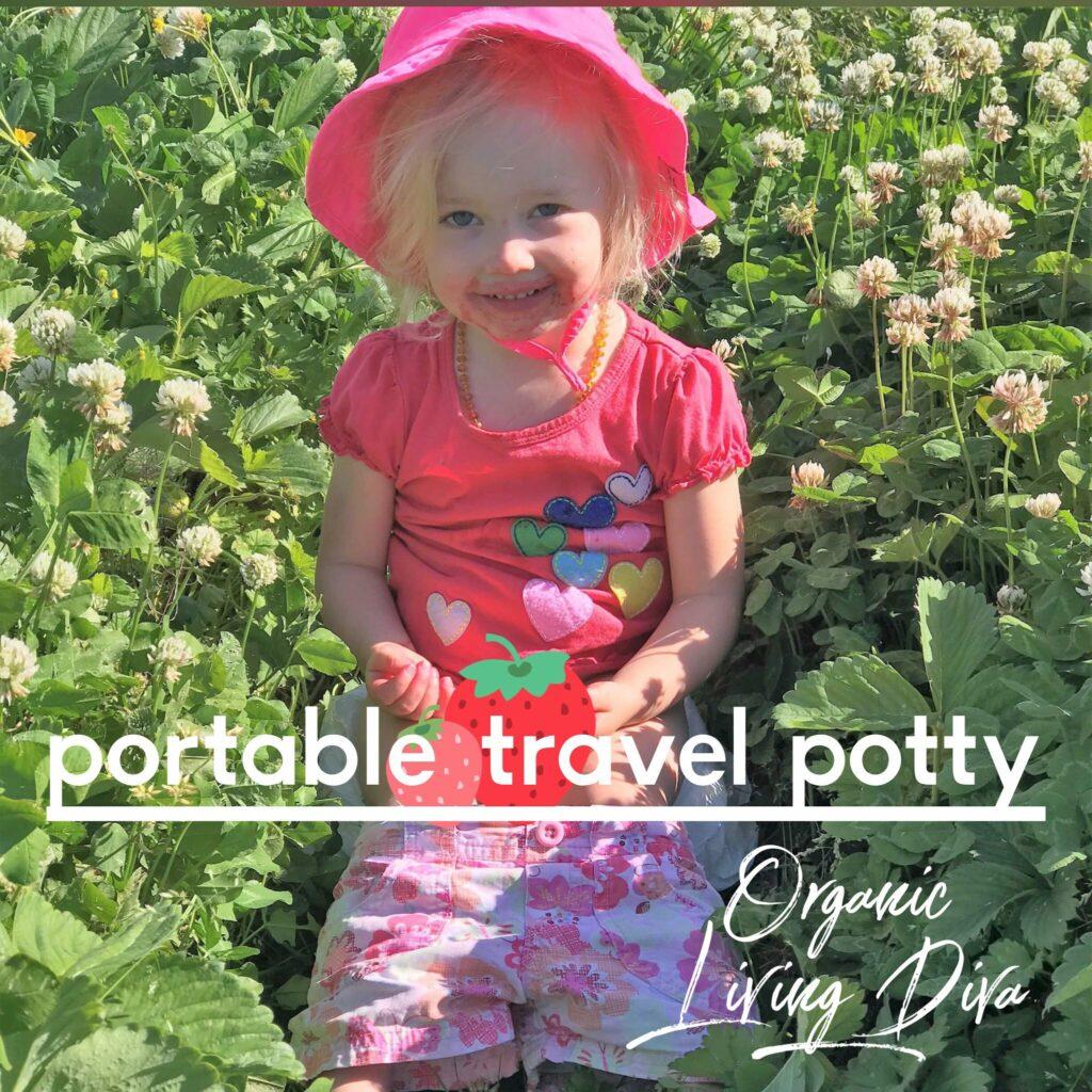 portable-travel-potty at the u-pick berry farm