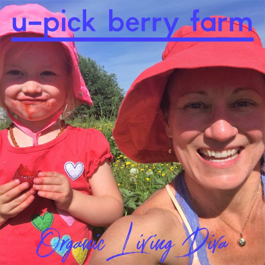 U-pick berry farm family photo