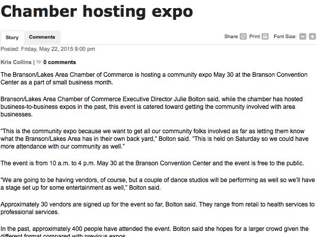 Branson Community Expo