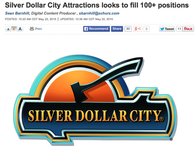 Silver Dollar City trying to fill 100+ positions!