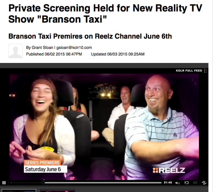 """Private Screening Held For New Reality TV Show """"Branson Taxi"""""""