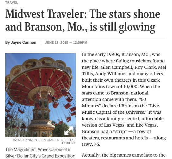 The stars shone and Branson, Mo., is still glowing
