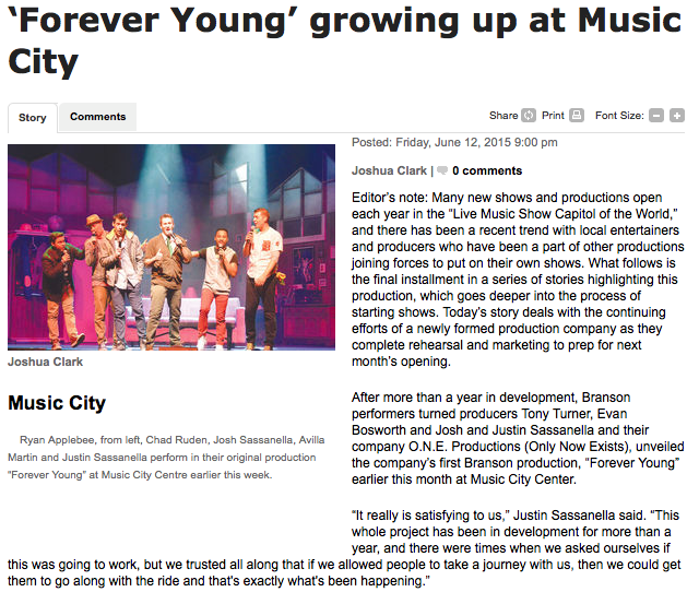 'Forever Young' growing up at Music City