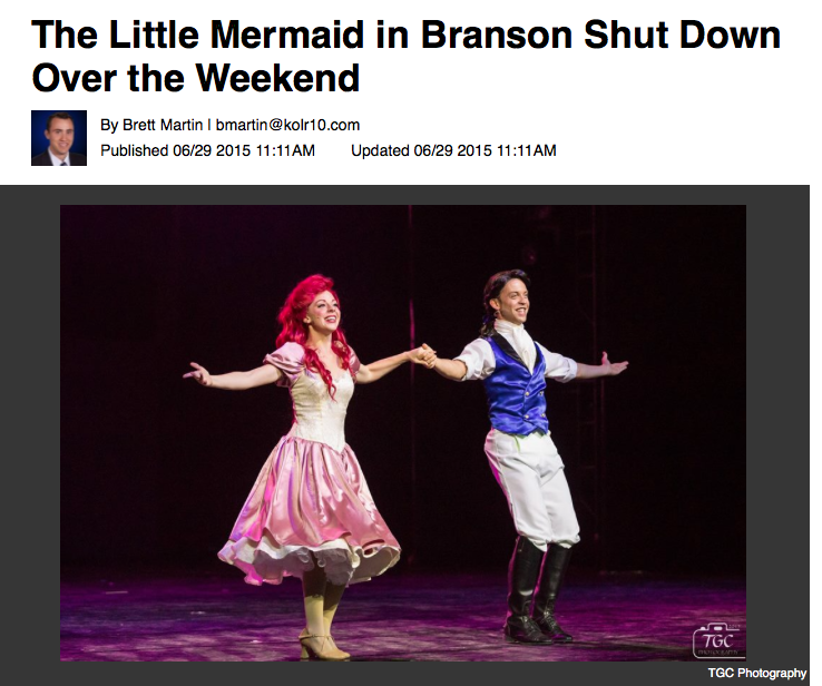 The Little Mermaid in Branson Suddenly Closes