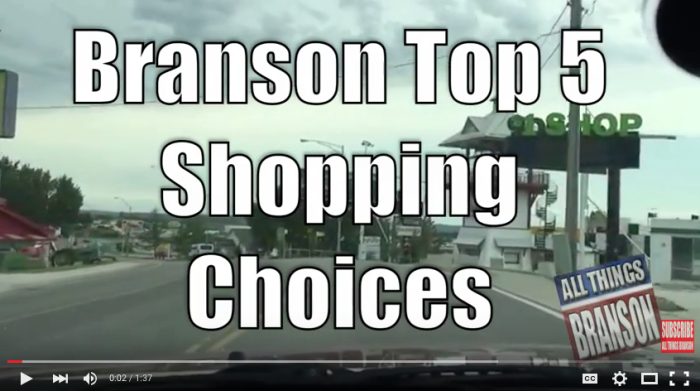 BRANSON PICK 5: Shopping Destinations