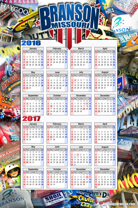 2016 All Things Branson Calendar PREORDERS