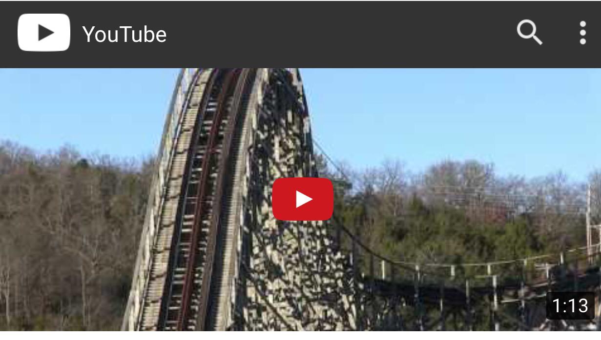 Branson Roller Coaster Collapsing