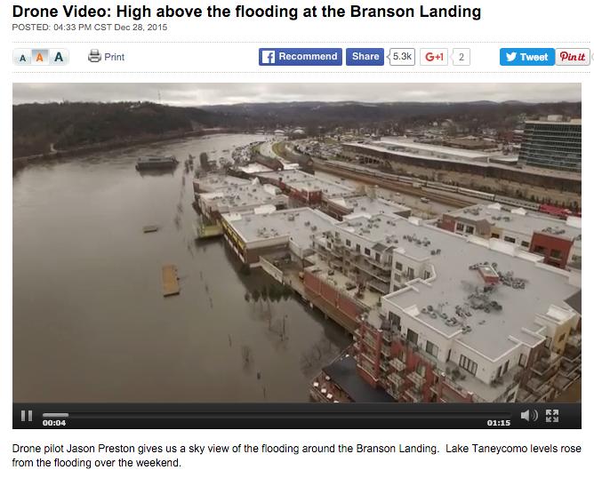 Drone Flight over Branson Landing