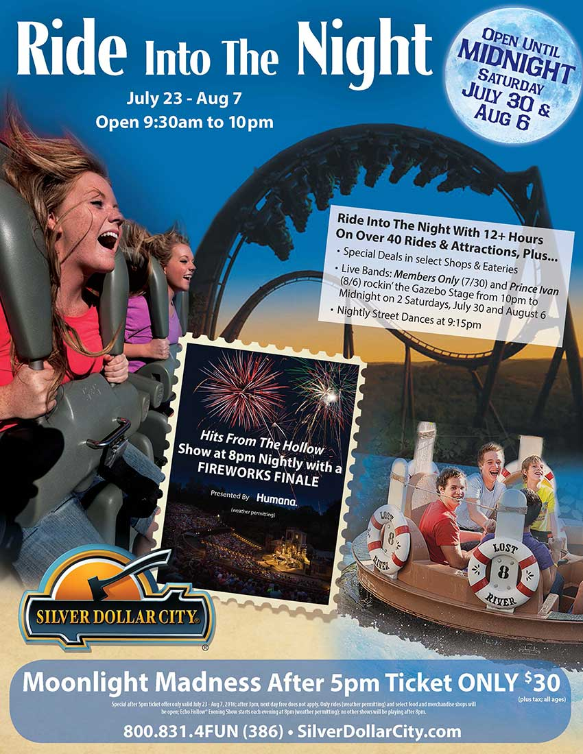 Ride Into The Night and Moonlight Madness at Silver Dollar City!