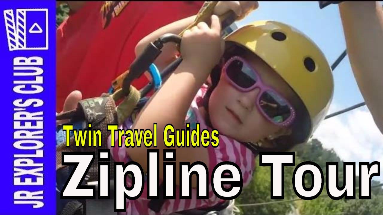 NEW BRANSON VIDEO: Super Cute 4 year Old Reviews Ziplines in Branson
