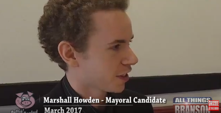 All Things Marshall Howden: 2017 Branson Mayor Candidate