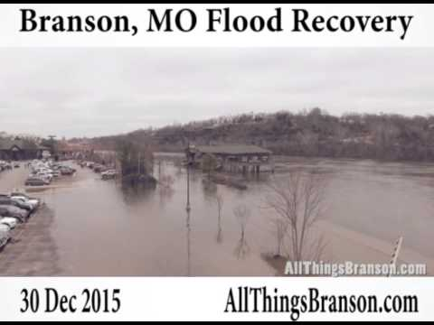 Drone Footage of Branson Missouri Flood Waters Receding on Lake Taneycomo (2015 Footage)