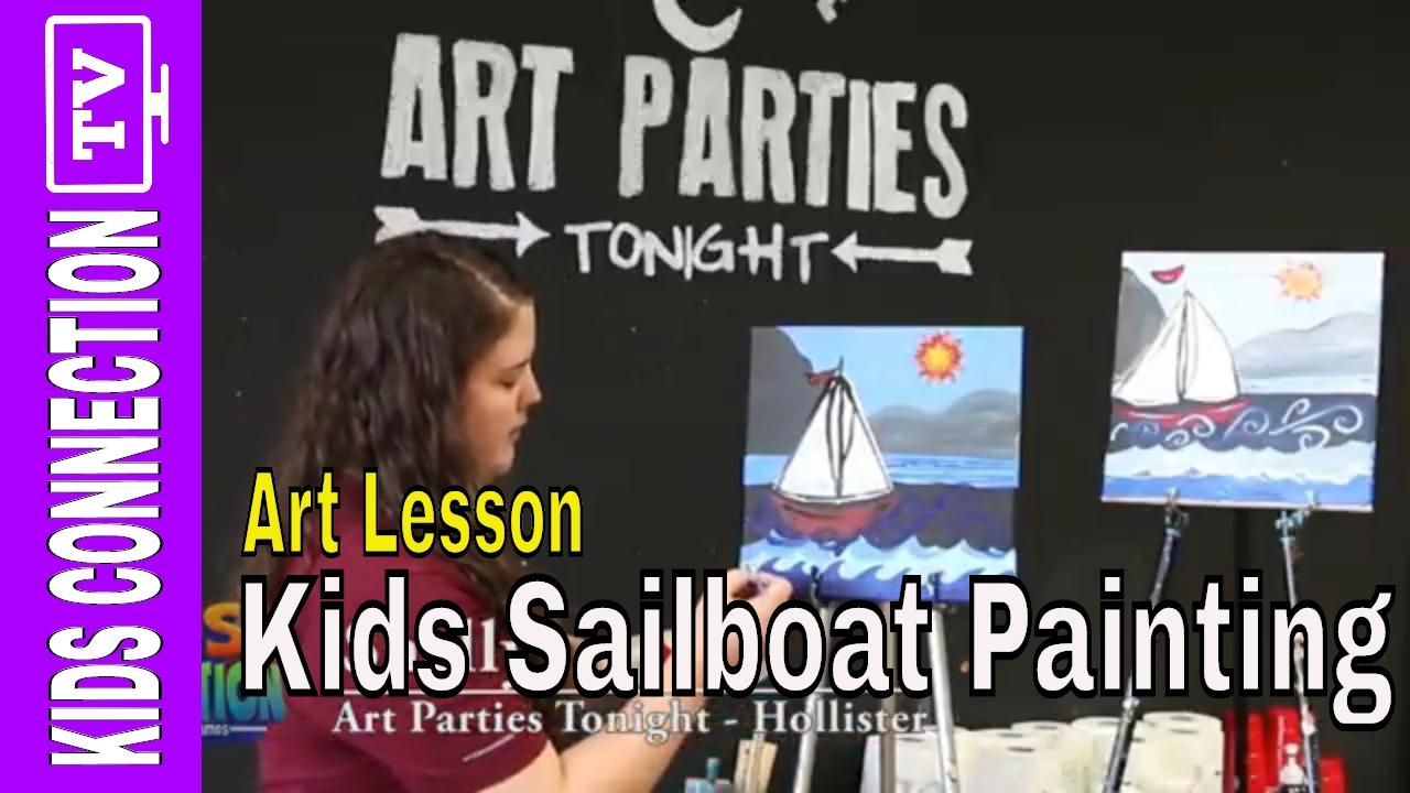 Art Parties Tonight: Sailboat Painting
