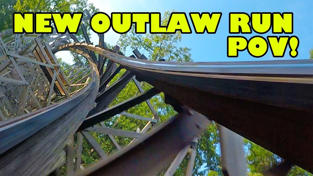 AWESOME New Outlaw Run 60FPS Roller Coaster Front Seat POV Silver Dollar City Branson MO