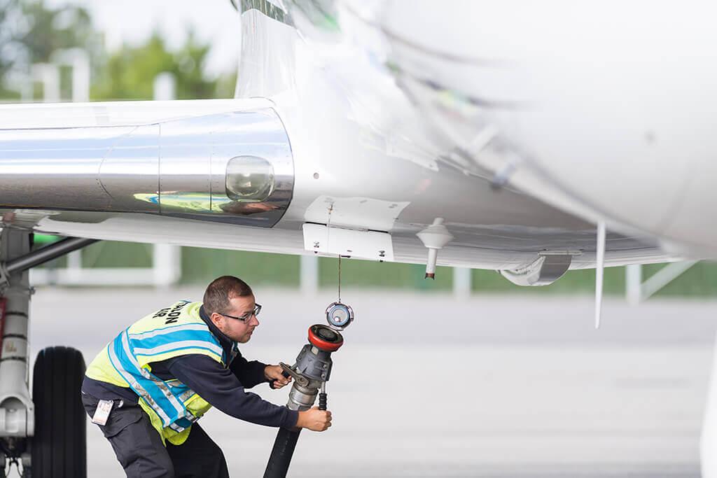 Refueling Aircraft at Republic Jet Center