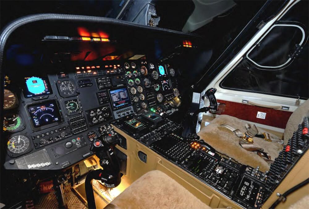 Controls inside 1989 SIKORSKY S-76B - N591AK