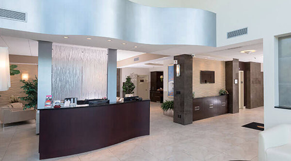 The front desk, offering FBO concierge services
