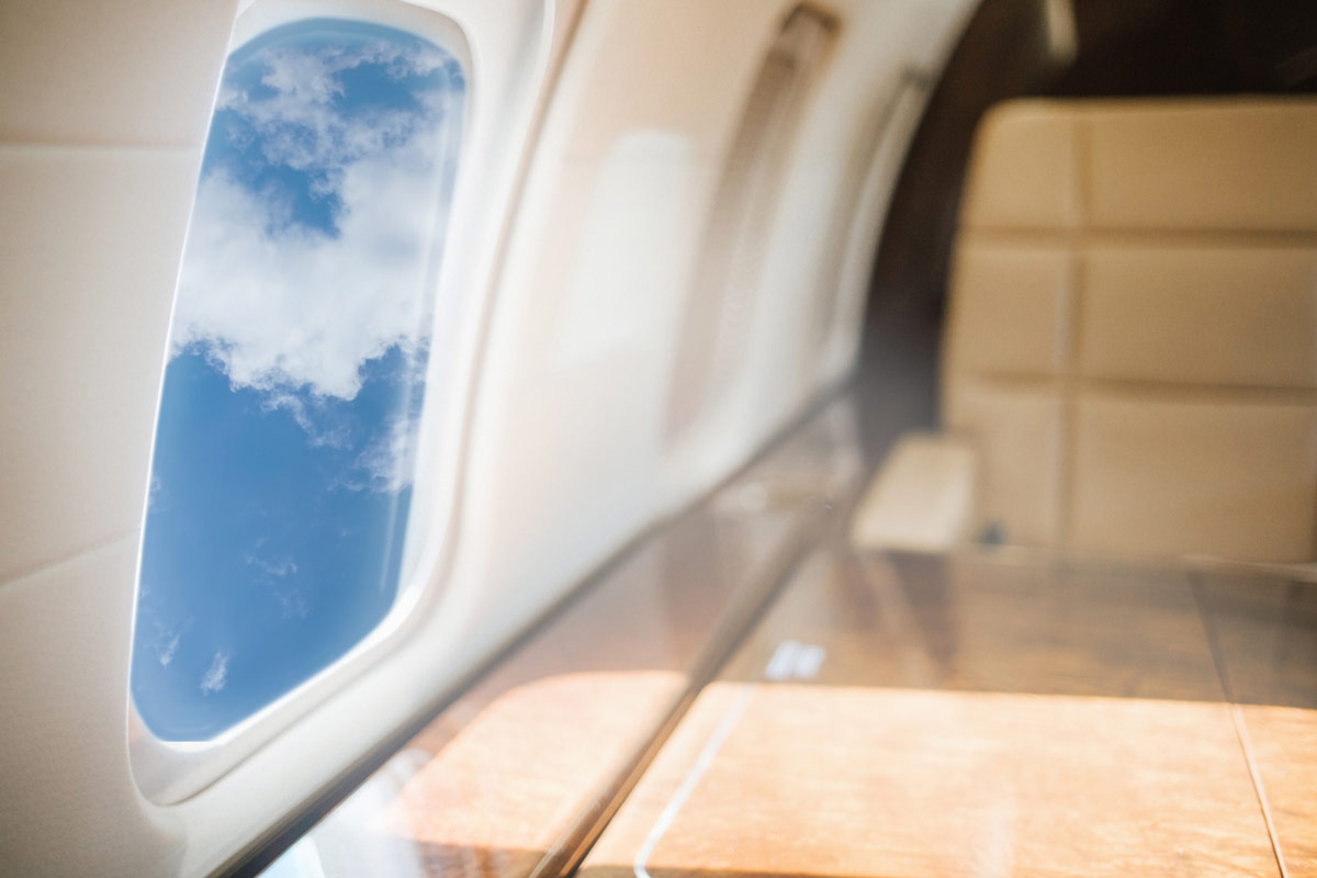 Private Charter Airplane Window