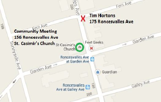 TIM HORTONS LOCATION and COMMUNITY MEETING