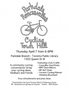 Parkdale-Roncesvalles Cycling Town Hall - Poster