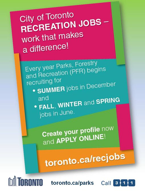CofT Recreation Jobs flyer