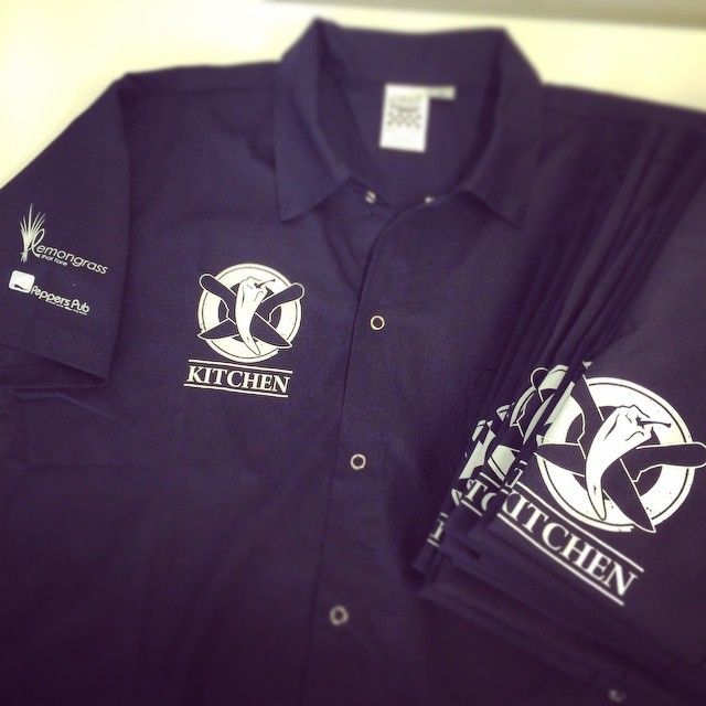 Embroidery is a great, durable choice for staff workwear.