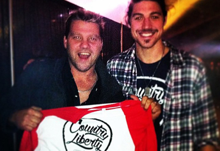 Country Liberty co-founder Sawyer Hannay and country music singer Doc Walker.