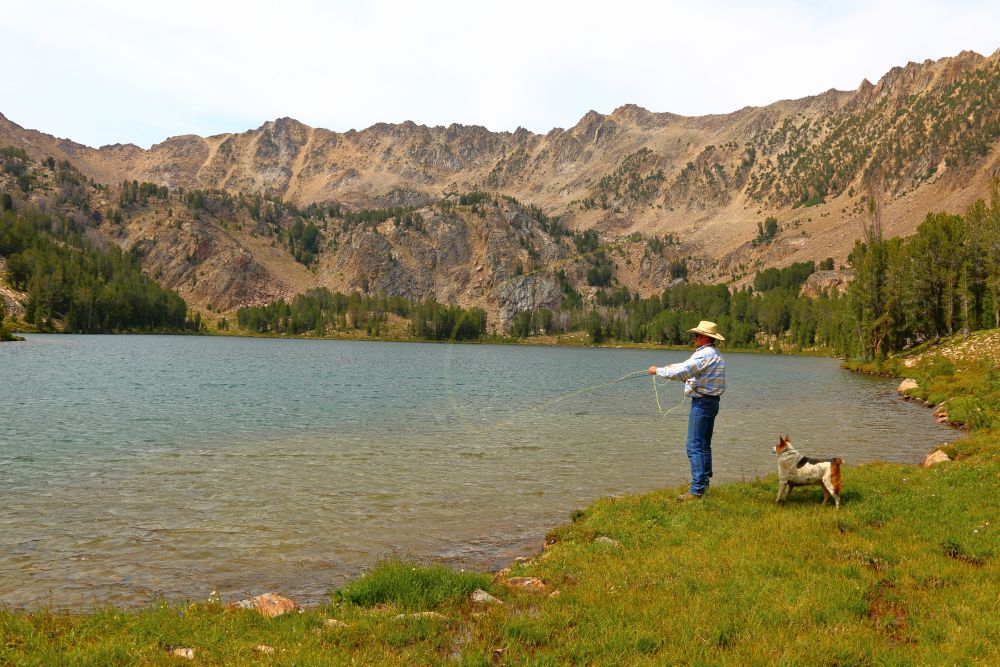Fly Fishing in the White Clouds - photo by Ogden Gigli