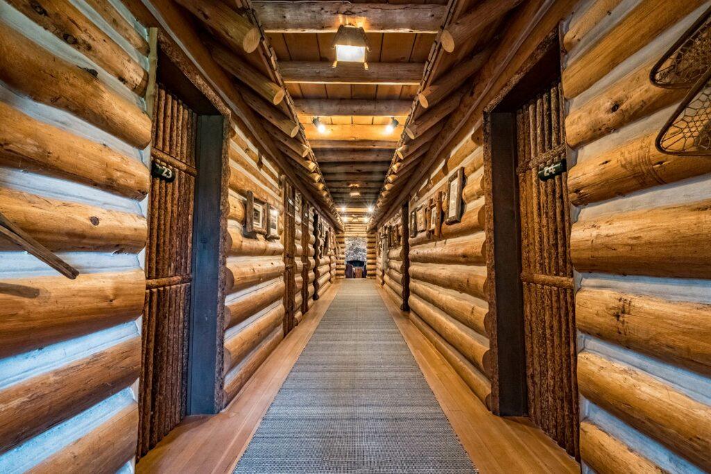 Beautiful log cabin vacation rooms at our idaho ranch lodging