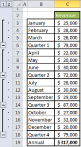 Grouping Rows in Excel