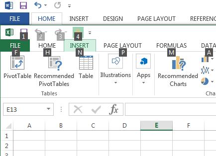 Missing a Mouse? Use ALT - Excel - Press ALT