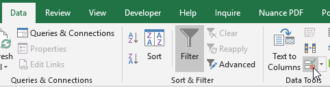 Data Validations in Excel - Data Tools