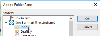 Mailbox Shortcuts in Outlook - Linked to Outlook