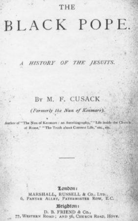THE POPE A HISTORY OF THE JESUITS. By M. F. CUSACK