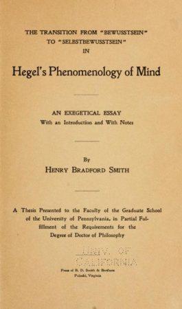 hegel phenomenology of the mind
